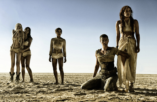 "This photo provided by Warner Bros. Pictures shows, from left, Abbey Lee as The Dag, Courtney Eaton as Cheedo the Fragile, Zoe Kravitz as Toast the Knowing, Charlize Theron as Imperator Furiosa and Riley Keough as Capable, in Warner Bros. Pictures' and Village Roadshow Pictures' action adventure film, ""Mad Max:Fury Road,"" a Warner Bros. Pictures release. (Jasin Boland/Warner Bros. Pictures via AP)"